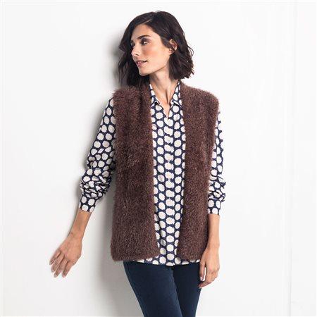 Olsen Super Soft Vest Cognac  - Click to view a larger image