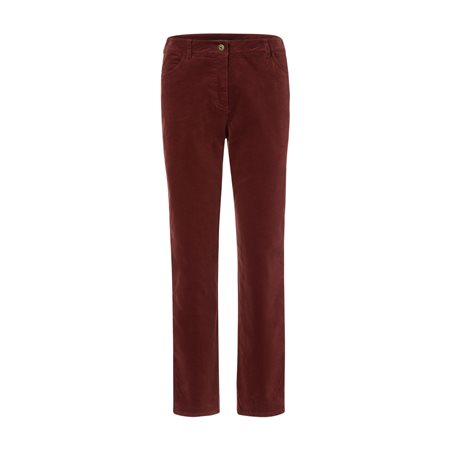 Olsen Lisa Corduroy Trousers Cognac  - Click to view a larger image