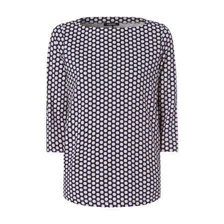 Olsen 3/4 Sleeve With Polka Dot Print Cream  - Click to view a larger image