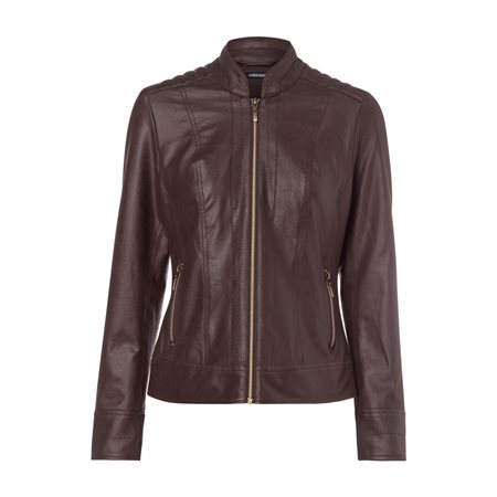 Olsen Imitation Leather Jacket Cognac  - Click to view a larger image