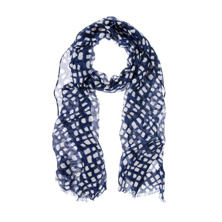 Olsen Window Pane Print Scarf Blue  - Click to view a larger image