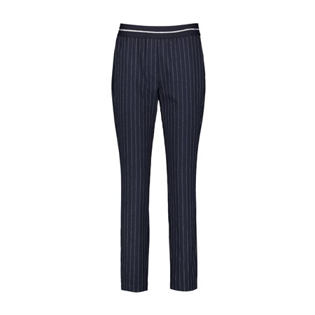 Taifun Pinstripe Trouser Navy  - Click to view a larger image