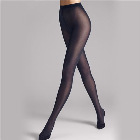 Wolford Velvet De Luxe 50 Tights Dark Navy  - Click to view a larger image
