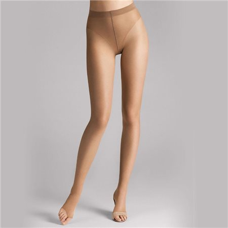 Wolford Luxe 9 Toeless Tights Caramel  - Click to view a larger image