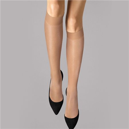 Wolford Satin Touch 20 Knee-Highs Gobi  - Click to view a larger image
