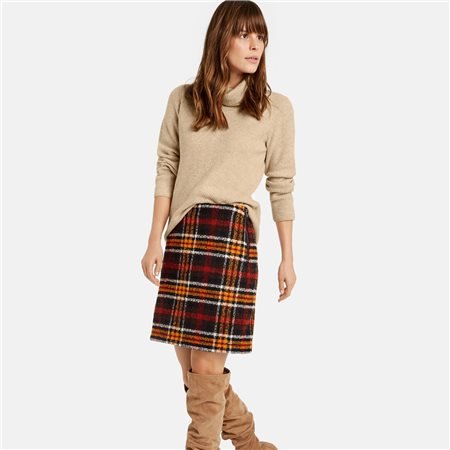 Taifun Plaid Skirt Black  - Click to view a larger image