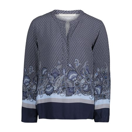 Betty & Co Paisley Blouse Blue  - Click to view a larger image
