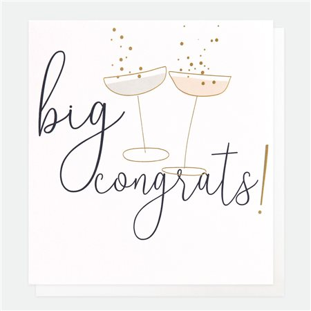 Caroline Gardner Big Congrats Card White  - Click to view a larger image