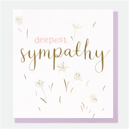 Caroline Gardner Deepest Sympathy Card White  - Click to view a larger image