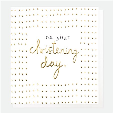 Caroline Gardner On Your Christening Day Card White  - Click to view a larger image