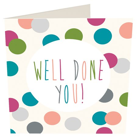 Caroline Gardner Well Done Card White  - Click to view a larger image