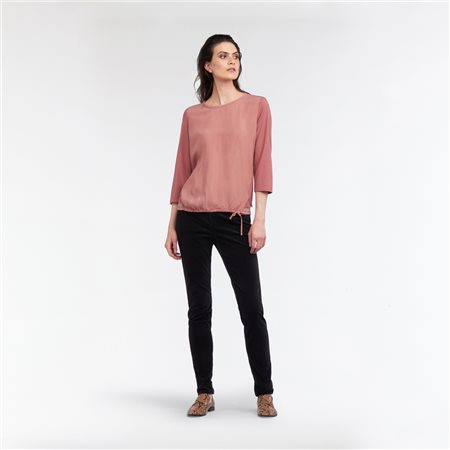 Sandwich Drawstring Front Top Blush  - Click to view a larger image