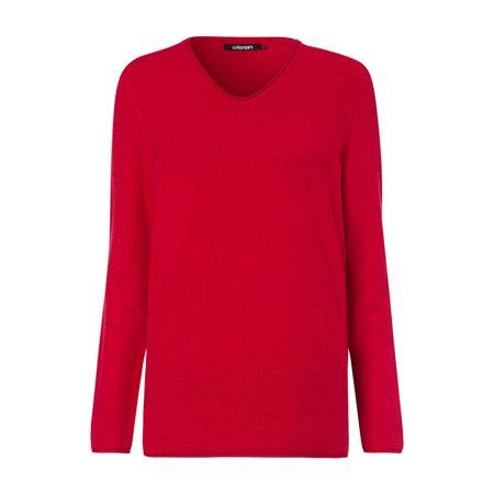 Olsen V Neck Soft Jumper Red  - Click to view a larger image