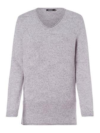 Olsen V Neck Soft Jumper Grey  - Click to view a larger image