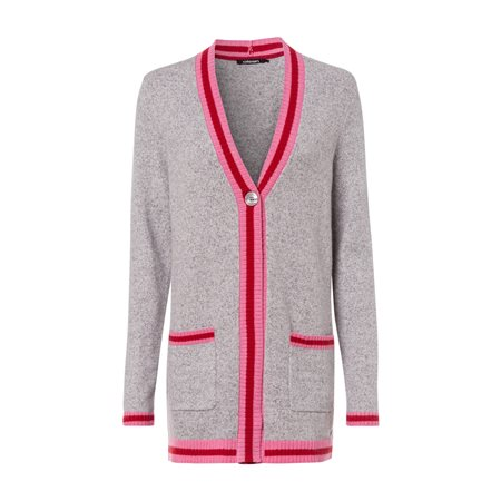 Olsen College Style Cardigan Grey  - Click to view a larger image