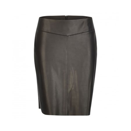 Taifun Leather Look Skirt Black  - Click to view a larger image