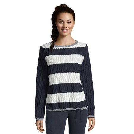 Betty Barclay Waffle Striped Jumper Blue  - Click to view a larger image