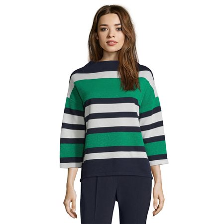 Betty Barclay Striped Top Blue  - Click to view a larger image