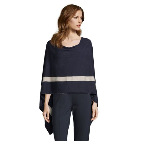 Betty Barclay Fine Knit Poncho Blue  - Click to view a larger image