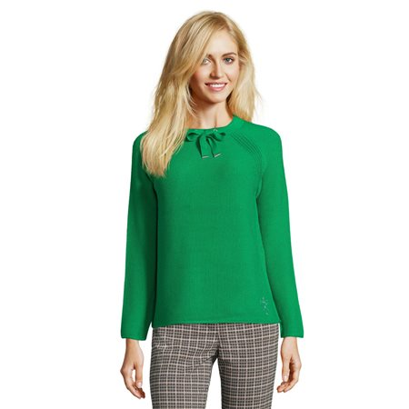 Betty Barclay Drawstring Collar Jumper Green  - Click to view a larger image