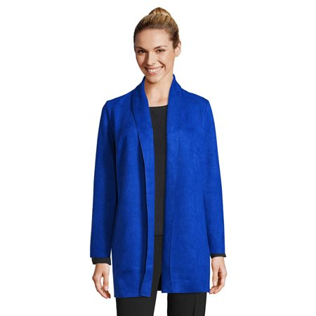 Betty Barclay Faux Suede Jacket Blue  - Click to view a larger image