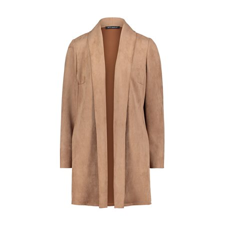 Betty Barclay Faux Suede Jacket Camel  - Click to view a larger image