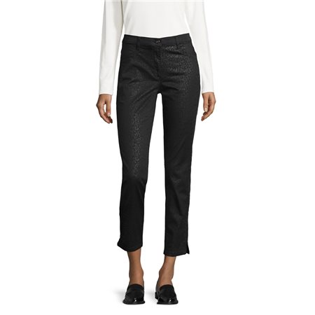 Betty Barclay Coated Pattern Trouser Black  - Click to view a larger image