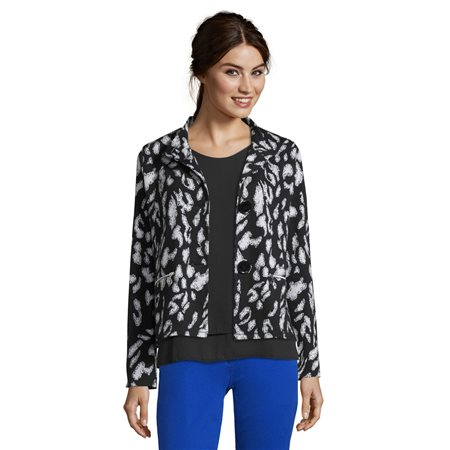 Betty Barclay Animal Print Jacket Black  - Click to view a larger image