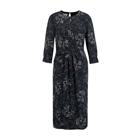 Gerry Weber Floral Print Long Sleeve Dress Blue  - Click to view a larger image