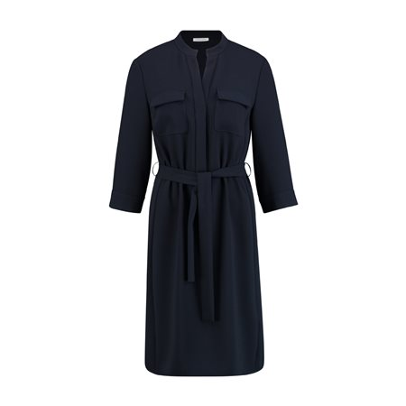 Gerry Weber Tie Belt Dress Navy  - Click to view a larger image