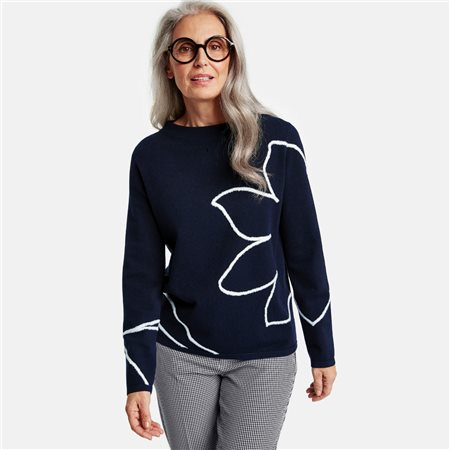 Gerry Weber Abstract Pattern Jumper Navy  - Click to view a larger image