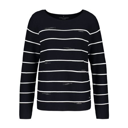 Gerry Weber Jumper With Stone Detail Navy  - Click to view a larger image