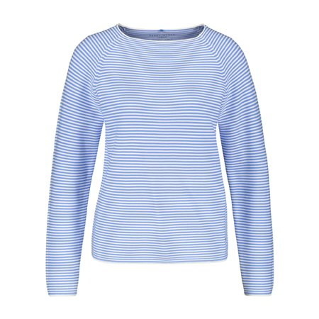 Gerry Weber Fine Stripe Jumper Blue  - Click to view a larger image