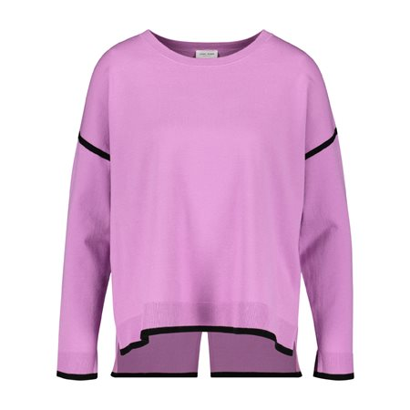 Gerry Weber Jumper With Fine Contrasting Stripe Purple  - Click to view a larger image