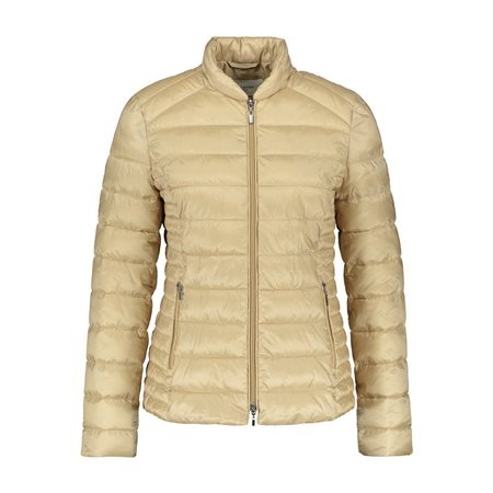 Gerry Weber Short Quilted Coat Beige  - Click to view a larger image