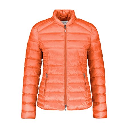 Gerry Weber Short Quilted Coat Orange  - Click to view a larger image