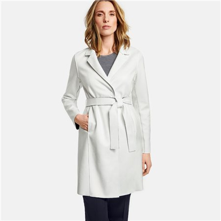 Gerry Weber Scuba Fabric Coat White  - Click to view a larger image