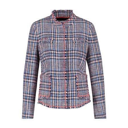 Gerry Weber Checked Jacket Blue  - Click to view a larger image