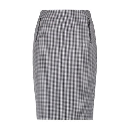 Gerry Weber Vichy Check Skirt Navy  - Click to view a larger image
