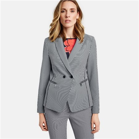 Gerry Weber Vichy Check Jacket Navy  - Click to view a larger image