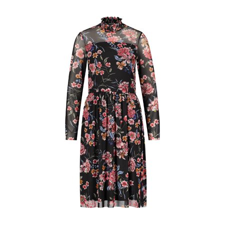 Taifun Floral Patterned Dress Black  - Click to view a larger image
