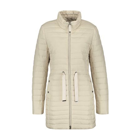 Gerry Weber Padded Coat With Tie Front Beige  - Click to view a larger image
