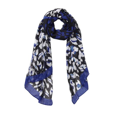 Betty Barclay Animal Print Scarf Black  - Click to view a larger image