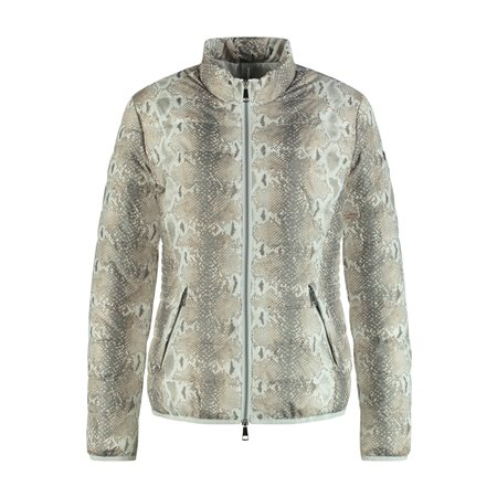 Taifun Quilted Snake Print Jacket Off White  - Click to view a larger image