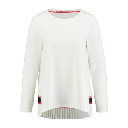 Taifun Top With Pleats Off White  - Click to view a larger image