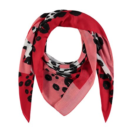 Taifun Kisses Scarf Red  - Click to view a larger image