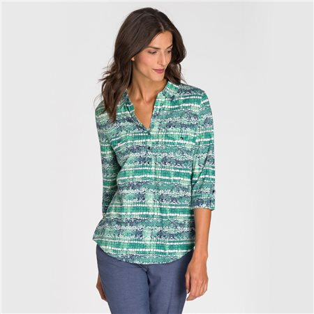 Olsen Cotton Shirt Green  - Click to view a larger image