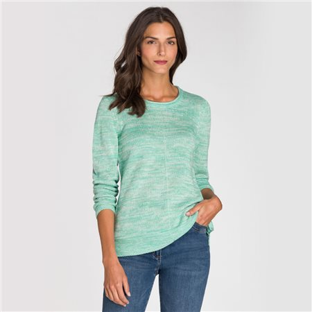 Olsen Roll Neck Jumper Green  - Click to view a larger image