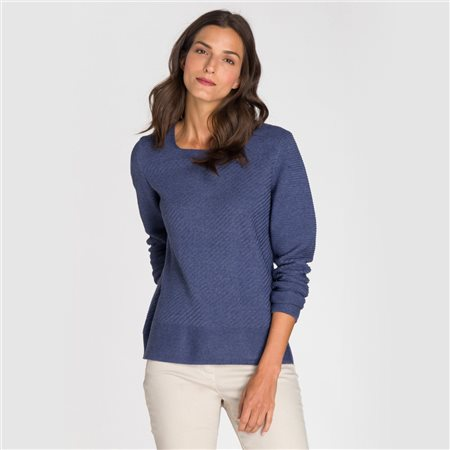 Olsen Square Neck Jumper Blue  - Click to view a larger image