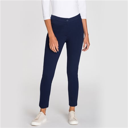 Olsen Pia Trouser Navy  - Click to view a larger image